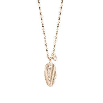 ESPRIT women's chain necklace stainless steel Rosé cubic zirconia spring ESNL03139C420