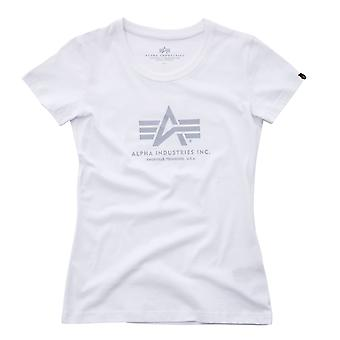 Alpha industries del t-shirt logo donne T Wmn