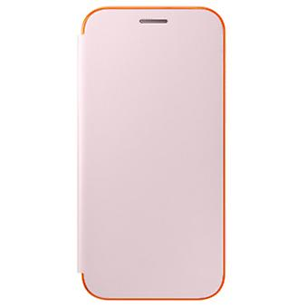 Samsung neon flip cover EF-FA320PP for A320F Galaxy A3 2017 protective case pink