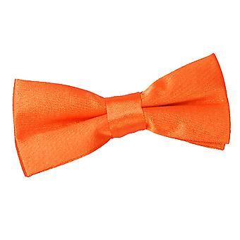Brændt Orange almindelig Satin pre-bundet Butterfly for drenge
