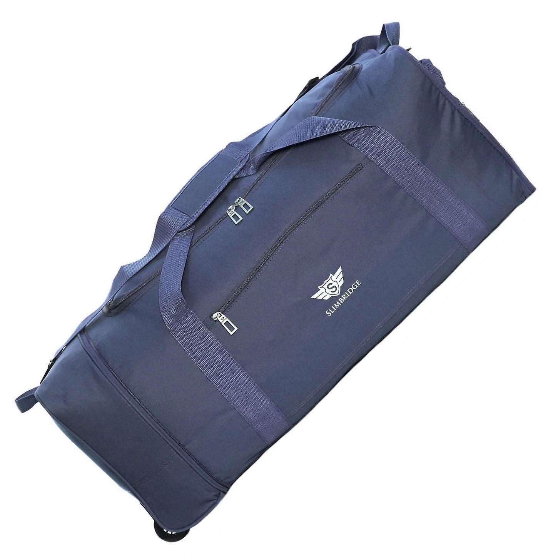 Slimbridge Havant Large 80cm Foldable Wheeled Bag, Blue