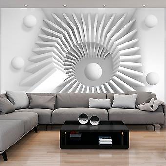Wallpaper - White jigsaw