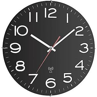 TFA 60.3509 Radio Wall clock 300 mm x 40 mm Black
