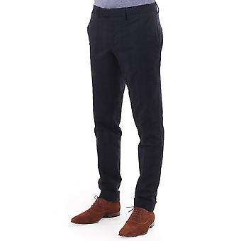 J Lindeberg Grant Trousers With Roll Up Hem And Allover Patter