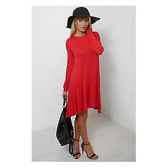 The Fashion Bible Darcy Red Swing Dress