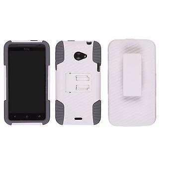 Ventev - kant hylster/Case Combo for HTC Evo 4G Lte - hvid PC / grå Gel