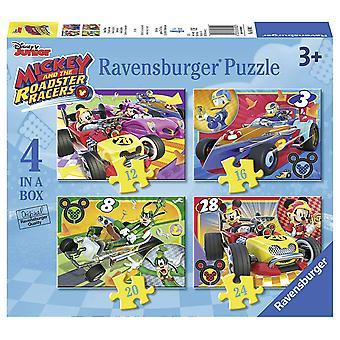 """Disney """"Musse och rutan Roadster Racers 4 pussel (12/20/30/36-bit)"""