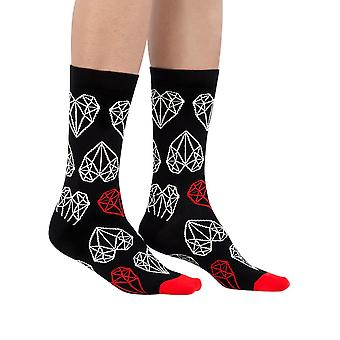 My Dear You luxury combed cotton crew socks in black | Made by Ballonet