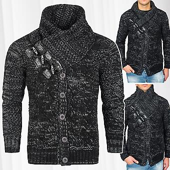 Men's Sweaters Pullovers Knurled Knots Norwegian Knitjacket Knit funnel-neck