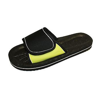 Sandrocks Mens Foam Rubber Touch Closure Waterproof Sandals