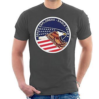 NASA STS 51I lanzadera de espacio descubrimiento misión parche camiseta de los hombres