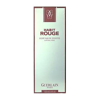 Guerlain Habit Rouge ljus Eau De Toilette Spray 3,4 Oz/100 ml i rutan
