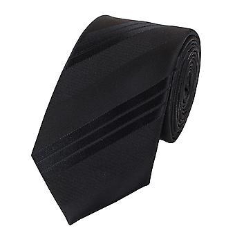 Zawiązać krawat krawat krawat 6cm czarne uni, którą Fabio Farini w paski
