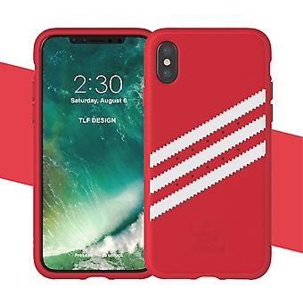 ADIDAS konstLäderbelagd étui TPU pour iPhone X-rouge