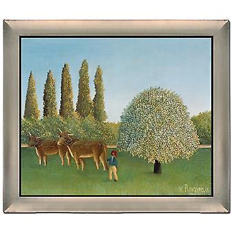 Med ram THe Pasture,Henri Rousseau,61x51cm