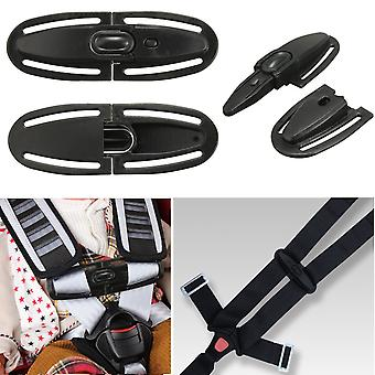 Baby Car Seat Lock Buckle Belt Latch Harness Chest Child Clip Black