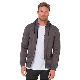 Tierische dunkle Holzkohle Marl Sycamore Zip Hoody