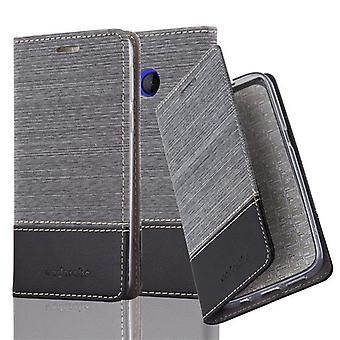 Cadorabo Hülle für HTC U PLAY - Handyhülle mit Standfunktion und Kartenfach im Stoff Design  - Case Cover Schutzhülle Etui Tasche Book