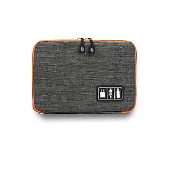 Bag for storage of cables and Electronic accessories-Grey
