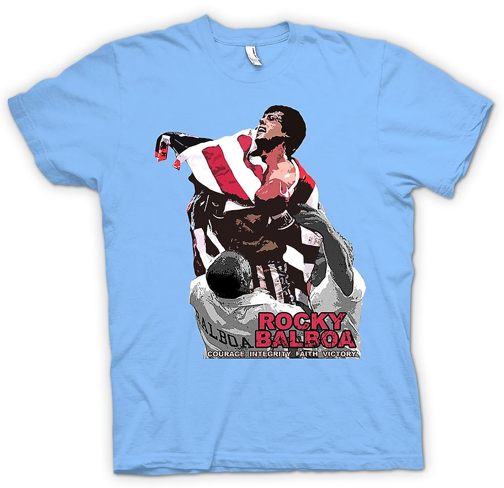 Mens T-shirt - Rocky Balboa - Courage - Boxing Movie
