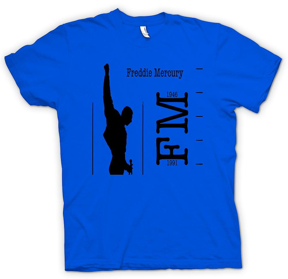 Mens T-shirt - Freddie Mercury Queen - FM 46 - 91
