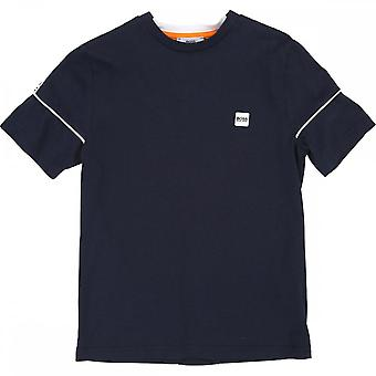 Hugo Boss Boys Hugo Boss Kids Navy Blue T-Shirt