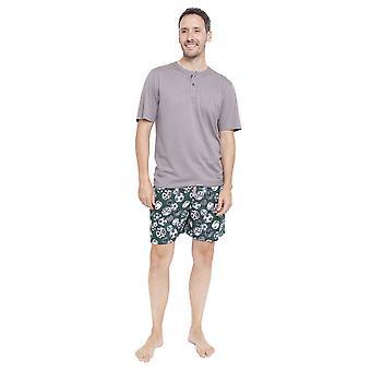 Cyberjammies 6339 мужской серый Alfie футбола печати пижама короткий