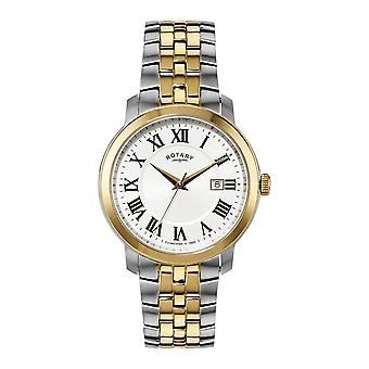 Rotary Gents Silver Dial Calendar Stainless Steel Two Tone Watch GB02881/21