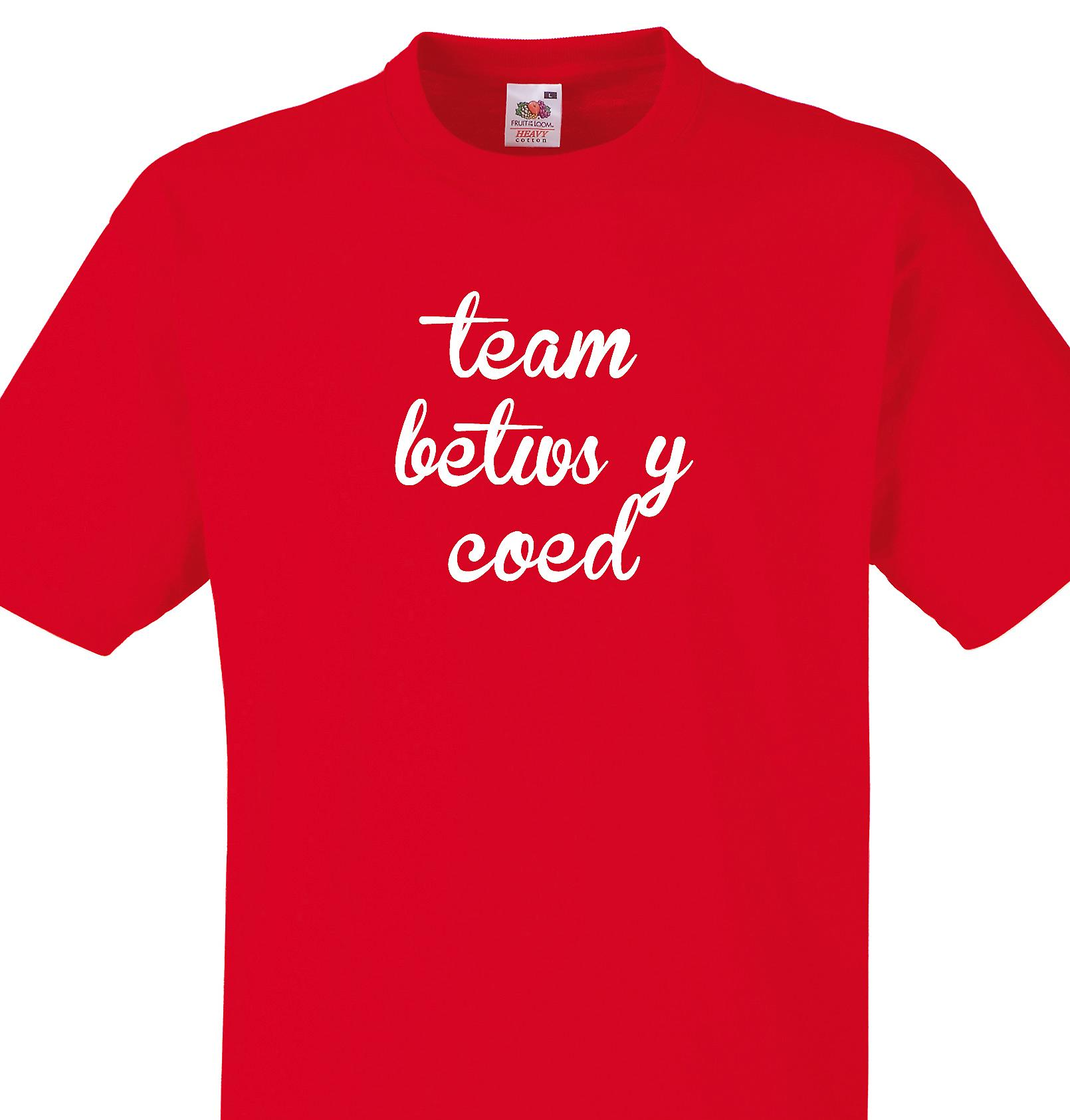 Team Betws y coed Red T shirt