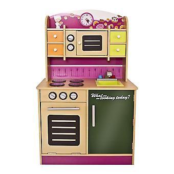 Cuisine dinette cuisinière en bois pour enfant jeux jouet moderne 0101007