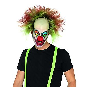 Mens Sinister Clown Wig Halloween Fancy Dress Accessory