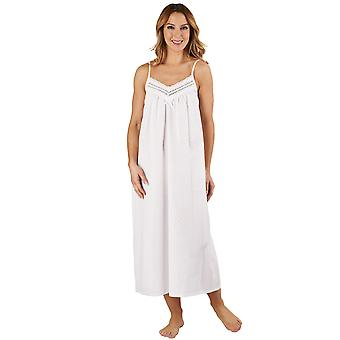 Slenderella ND3230L Women's Cotton Woven White Chemise