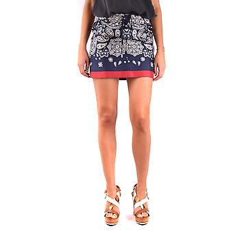 Moncler Blue Silk Skirt