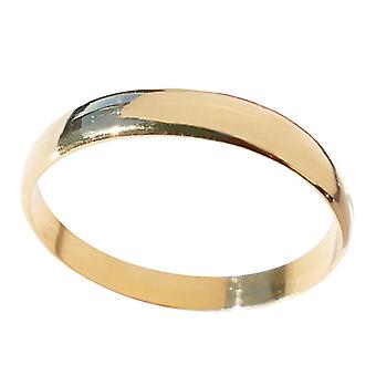 Unisex 3mm 18kt Genuine Gold Filled Ring with Simple Design