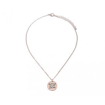 Intrigue Womens/Ladies Be True To Who You Are Engraved Pendant