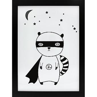 Grindstore Superhero Raccoon Canvas Print