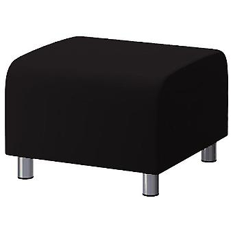 Cotton Replacement Cover for Ikea Klippan Footstool - Black
