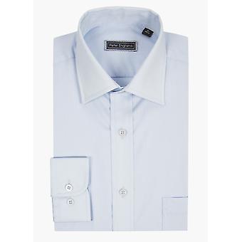 Peter England formalen Long Sleeve Shirt Light blau Plain Business/Arbeitshemd