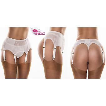 Nancies Lingerie 6 Strap Lace Suspender / Garter Belt for Stockings