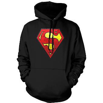 Kids Hoodie - Superman Distressed Logo - Cool
