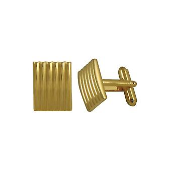 Eternal Collection Classico Striped Gold Tone Oblong Cufflinks