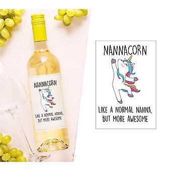 Nannacorn Wine Bottle Label