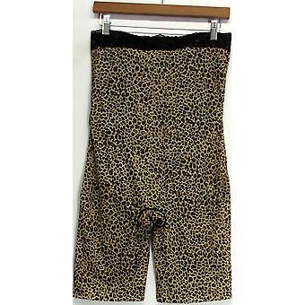 Slim 'N Lift Aire Leopard Print Tummy-to-Thigh High Waist Shaper Shorts C408813