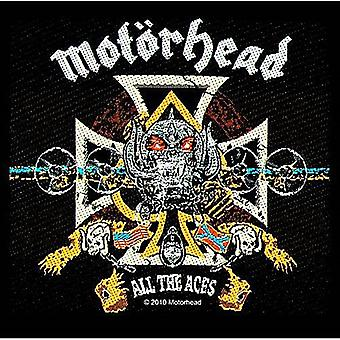 Motorhead All The Aces iron-on / sew-on patch 95mm x 95mm (ro)