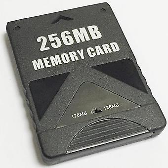 256mb memory card for sony ps2 & ps2 slim consoles [playstation 2] - black