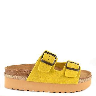 Shepherd of Sweden Patricia Yellow Platform Sandal