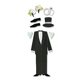 Touch Of Jolee's Dimensional Sticker Groom Spjj 045
