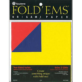 Fold 'Ems Origami Double Sided Paper 5.875