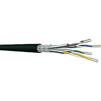 Network cable S/FTP 4 x 2 x 0.25 mm² Black DRAKA 1001087-00100RW Sold per metre