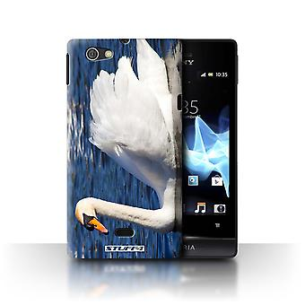 STUFF4 Case/Cover for Sony Xperia Miro/ST23I/Swan/British Coast